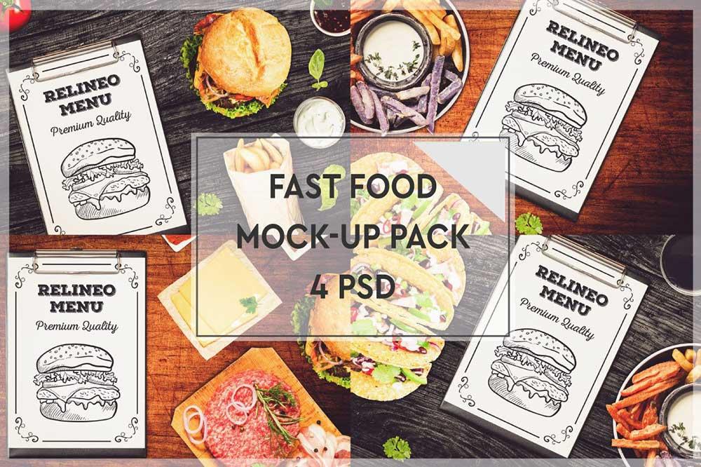 Fast Food Menu Mockup