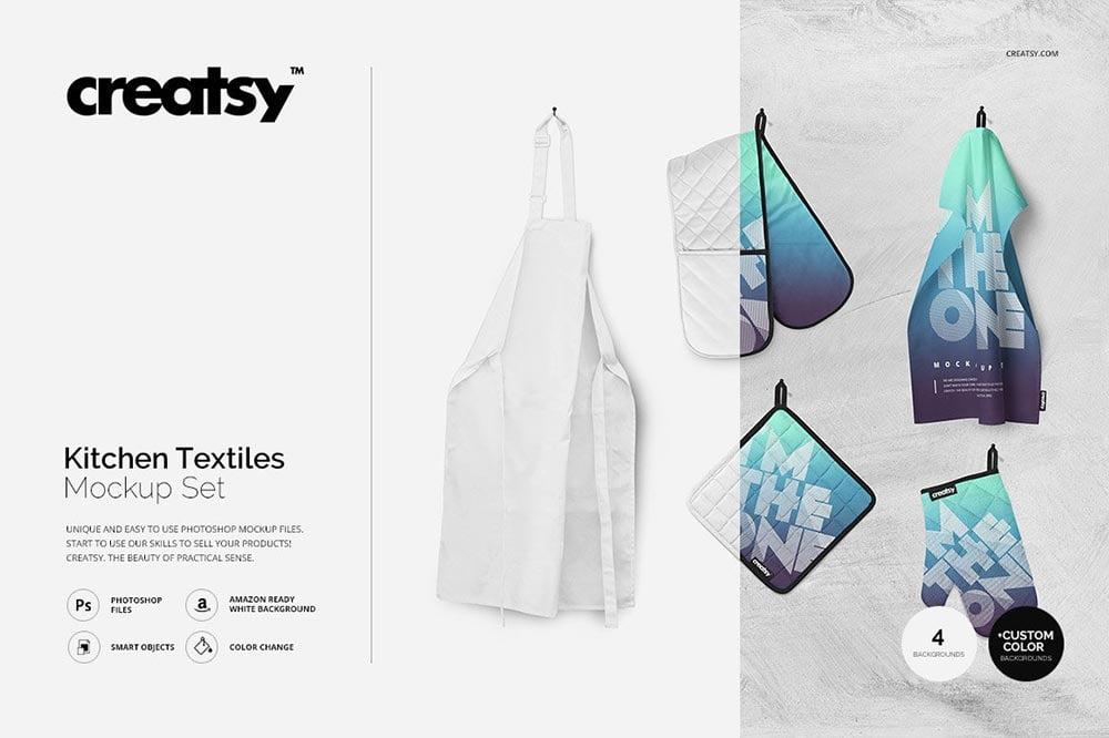 Kitchen Textiles Mockup Set