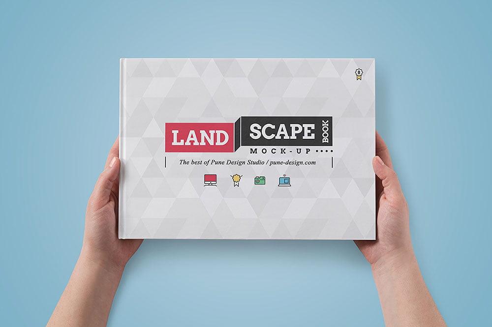 Best Landscape Book Mockup PSD Templates