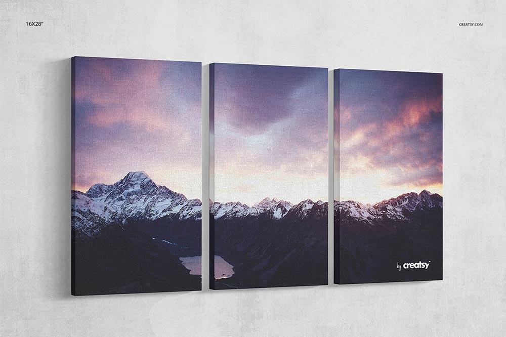 Multiple Canvas Prints Mockup Set