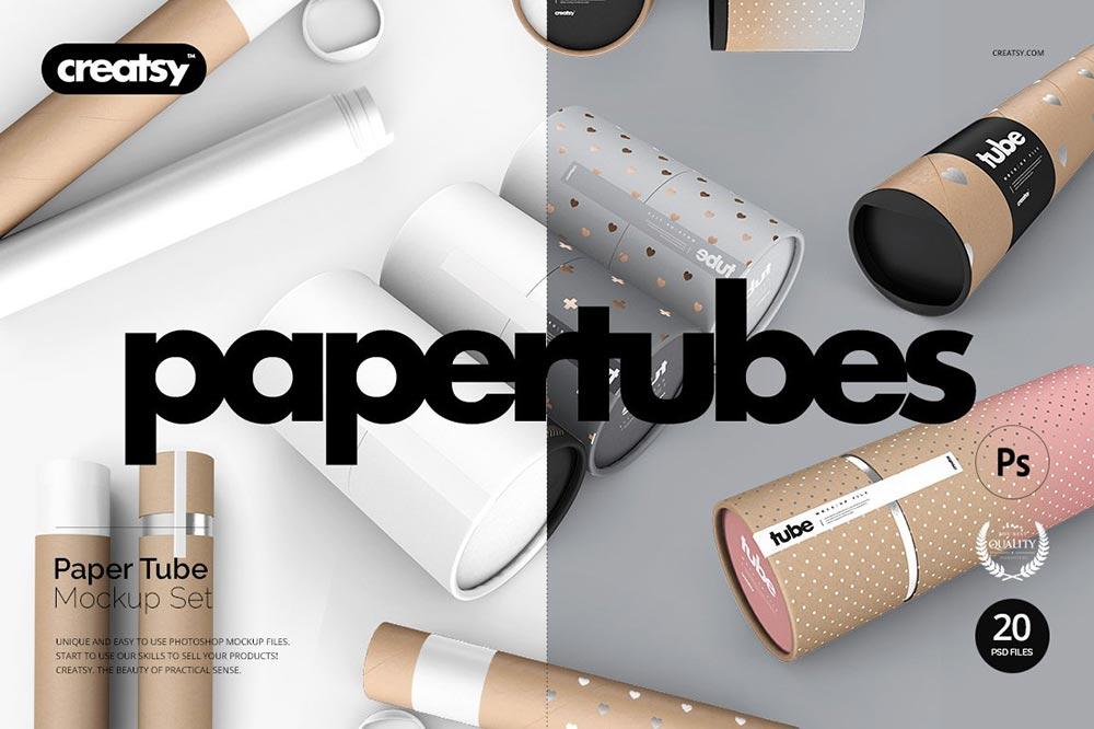 Paper Tube Mockup Set
