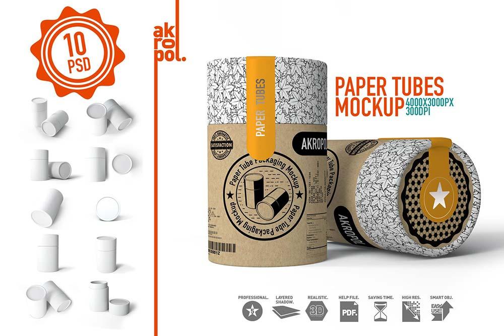 Paper tubes Mock up