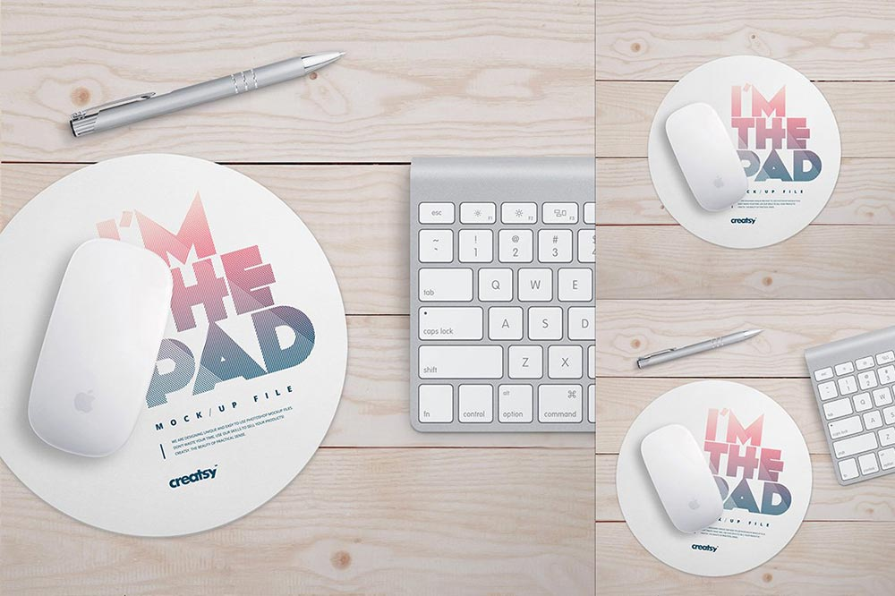 Round Mouse Pad Mockup Set