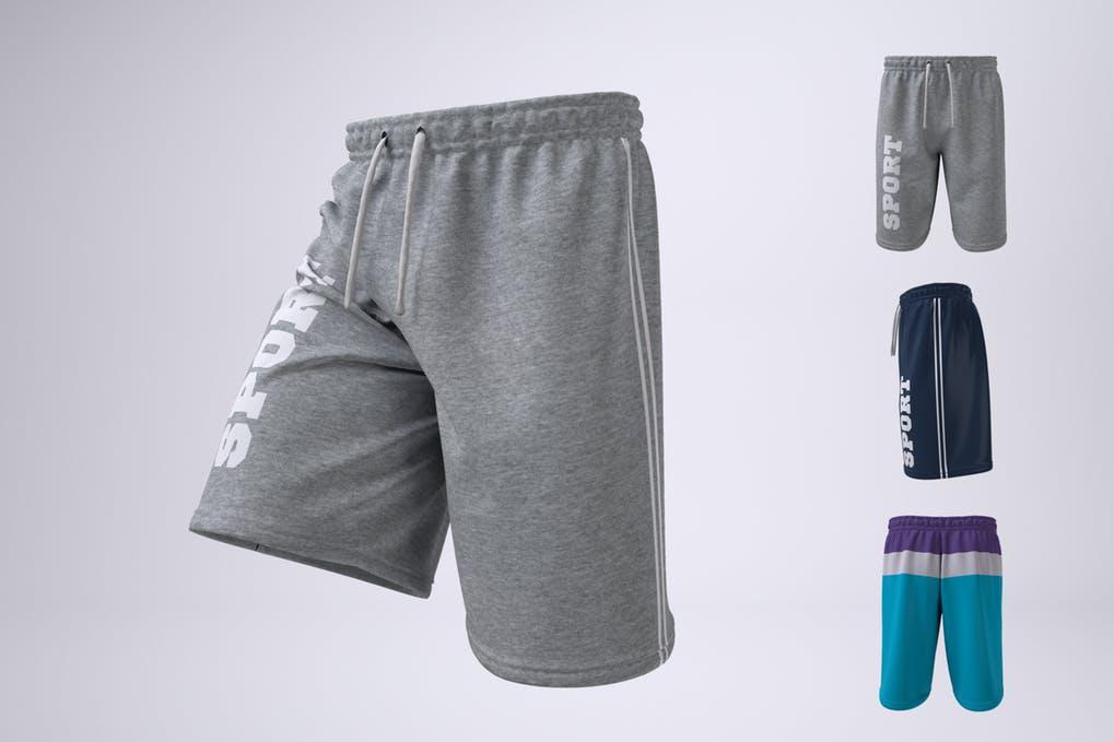 Man's Athletic Shorts Shorts Mock-Up