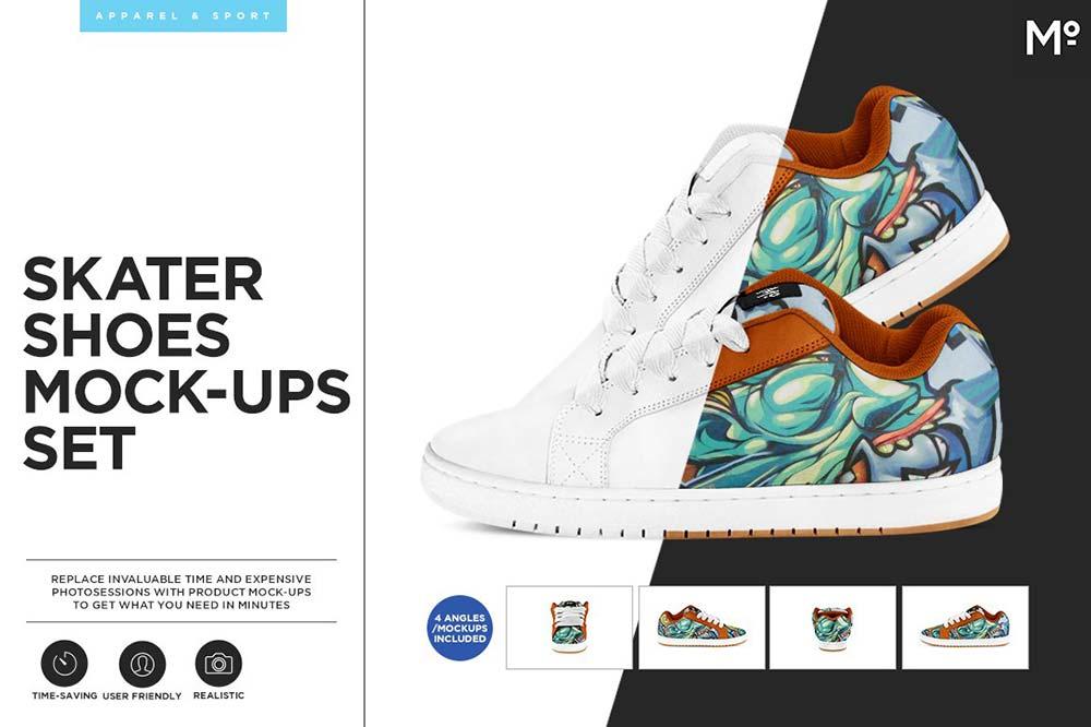 Skater Shoes Mock-ups Set