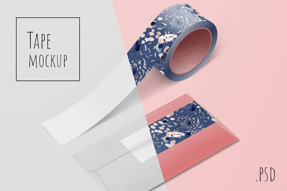 Tape and envelope mockup