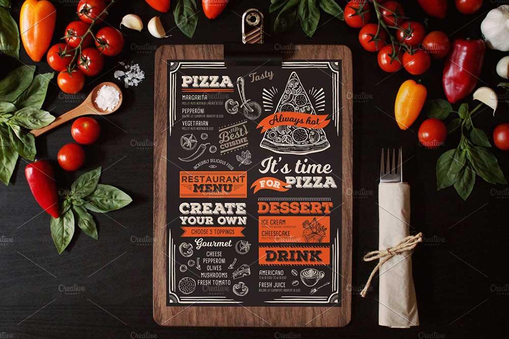 Vintage food menu MockUps
