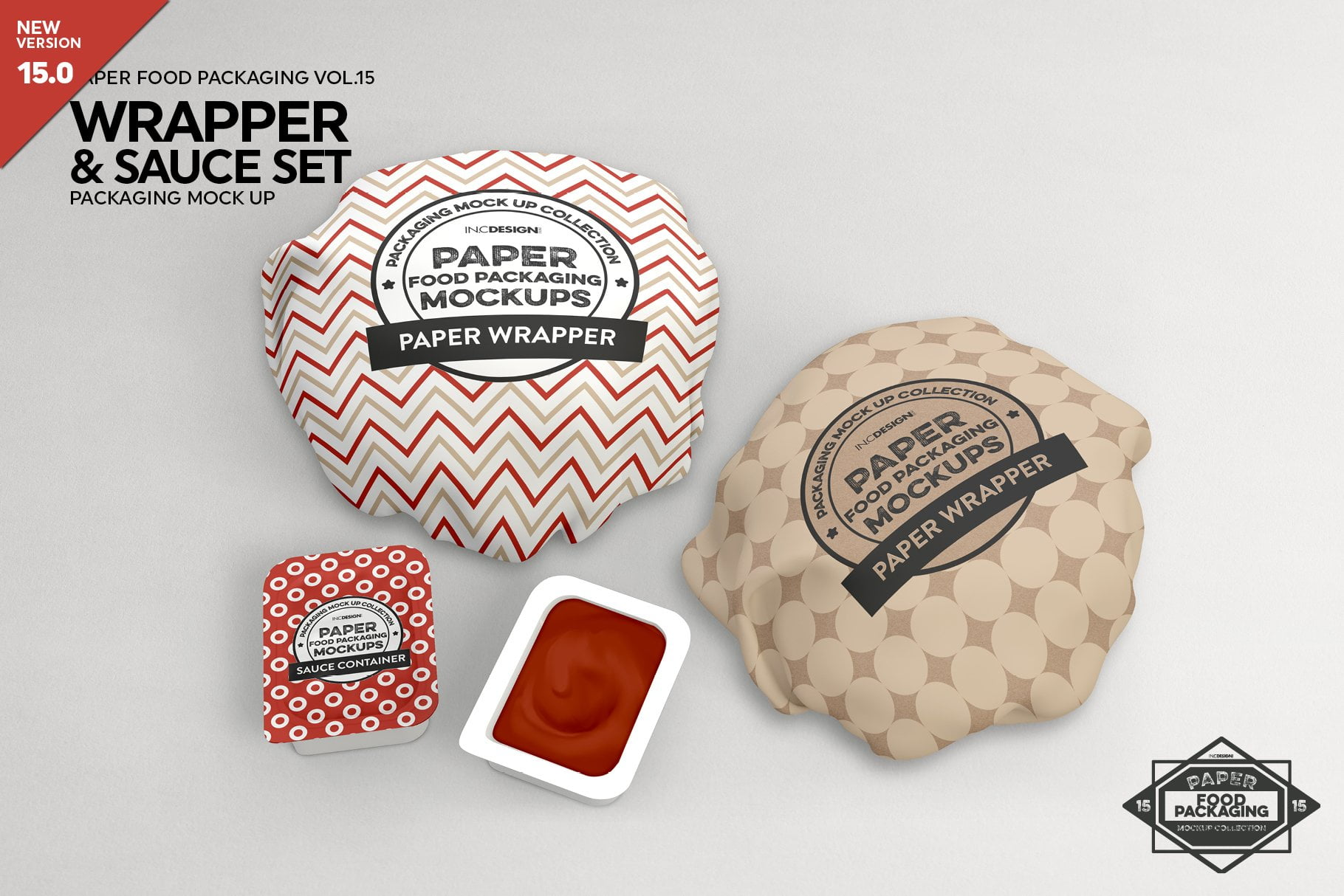 Wrapper and Sauce Set Mockup