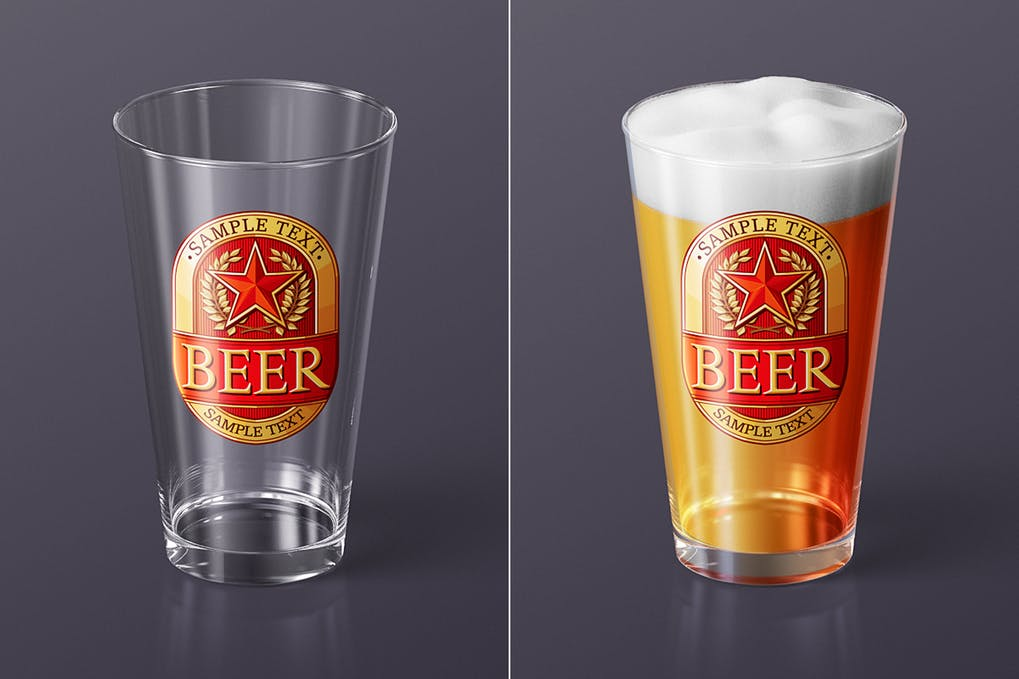 Beer Glass Mock-up