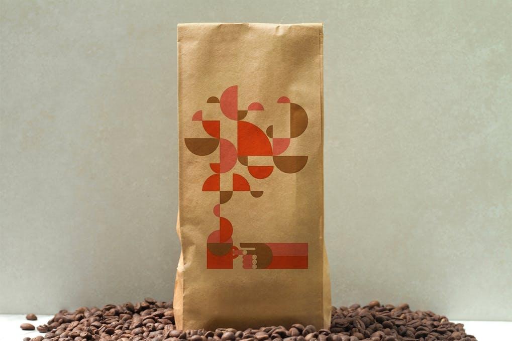 Coffee Craft Bag Mockup