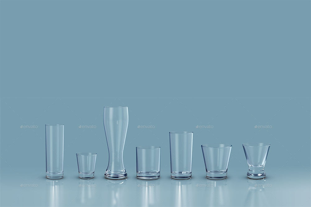 Drink Glasses Mockup
