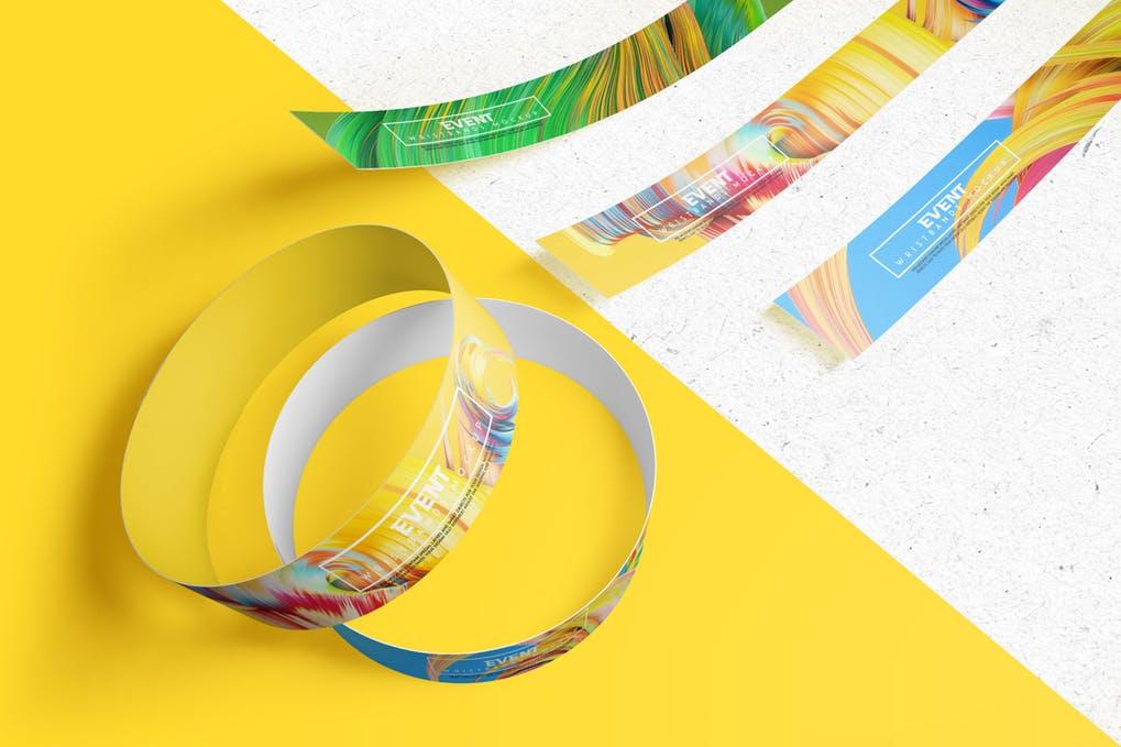 Event Wristbands Mockup