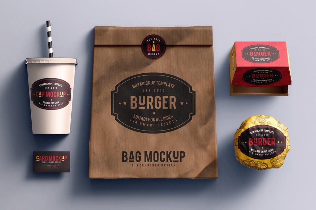Fast food branding Mockup