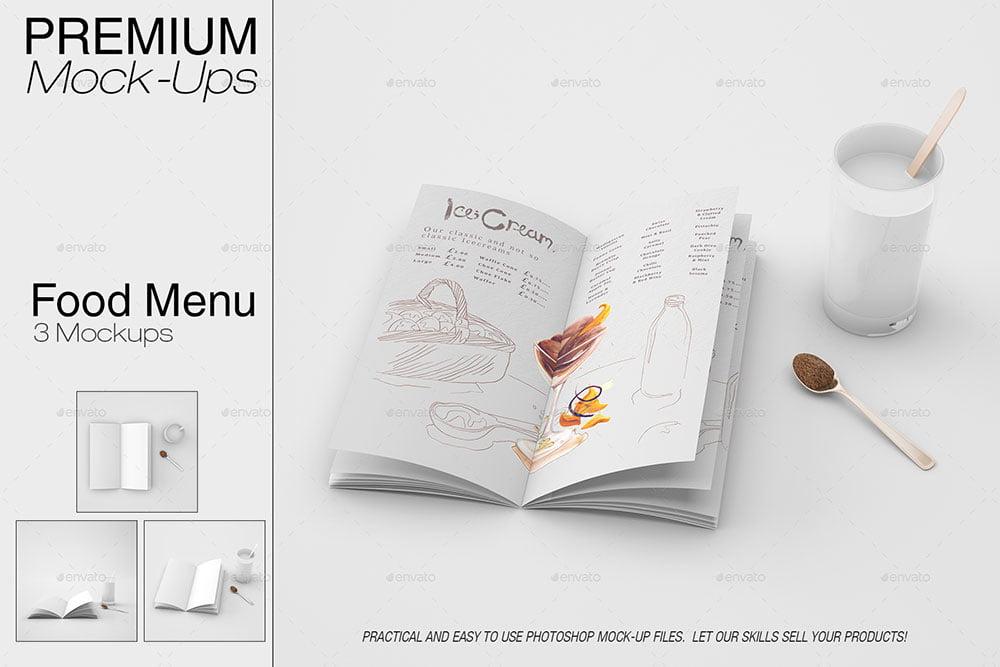 Food & Drink Menu Mockup