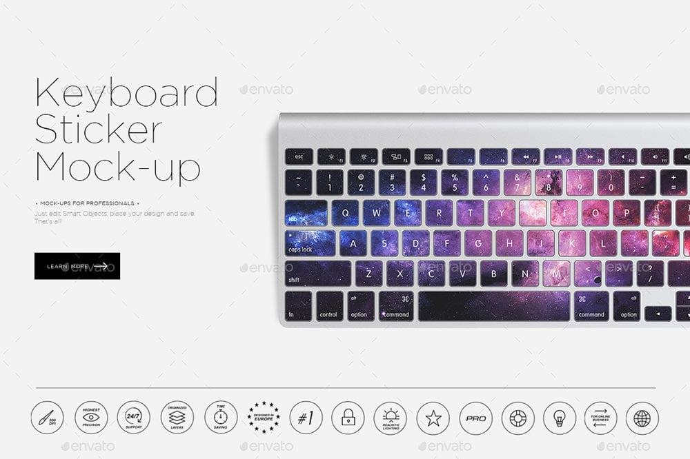 Keyboard Sticker Mock-up