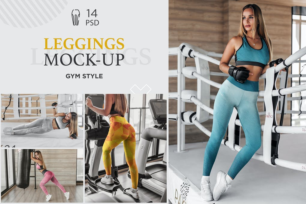 Leggings Mock-Up Gym Style