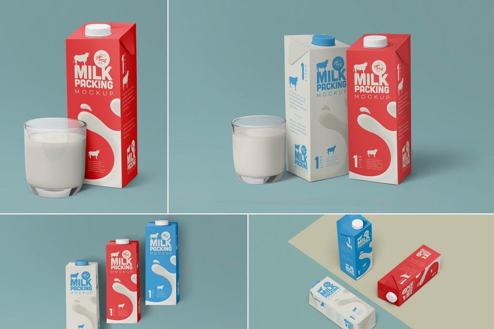 Milk Carton Mockups