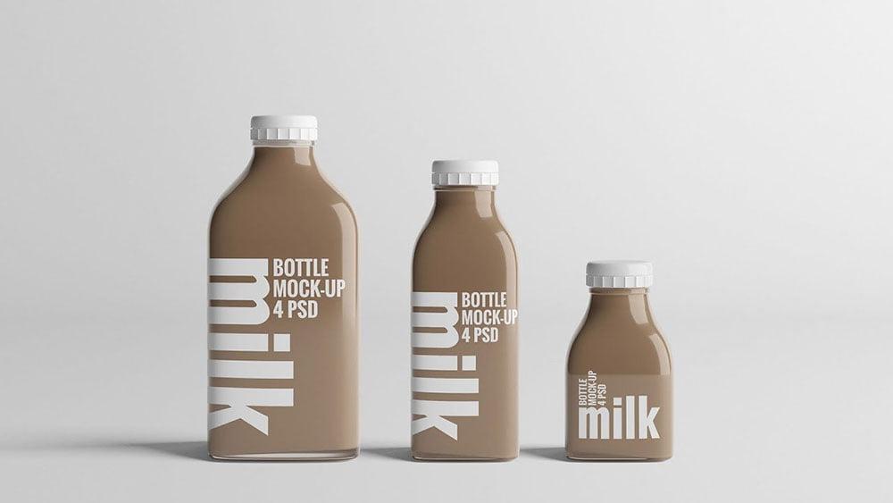 Milk Mockup PSD Templates