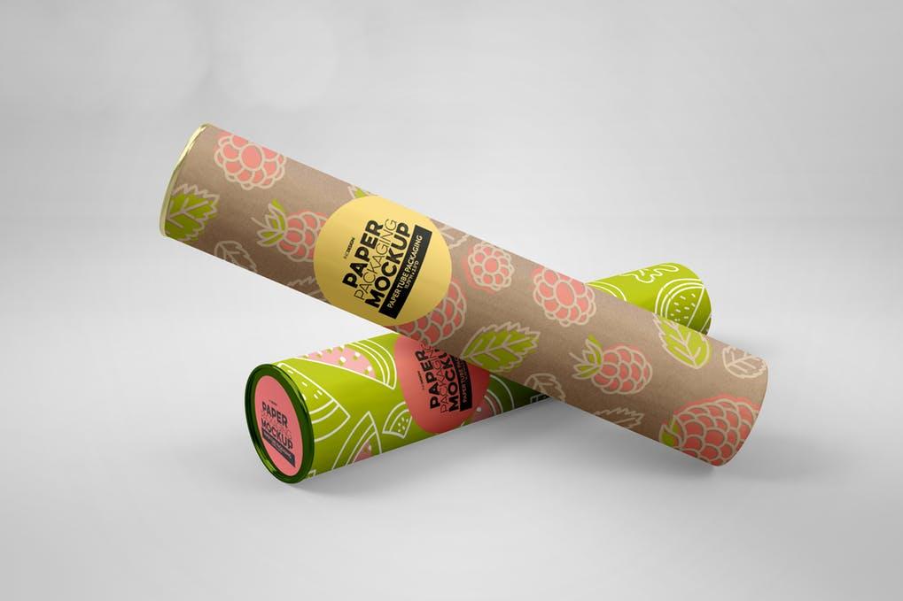 Paper Tube Packaging Mockup