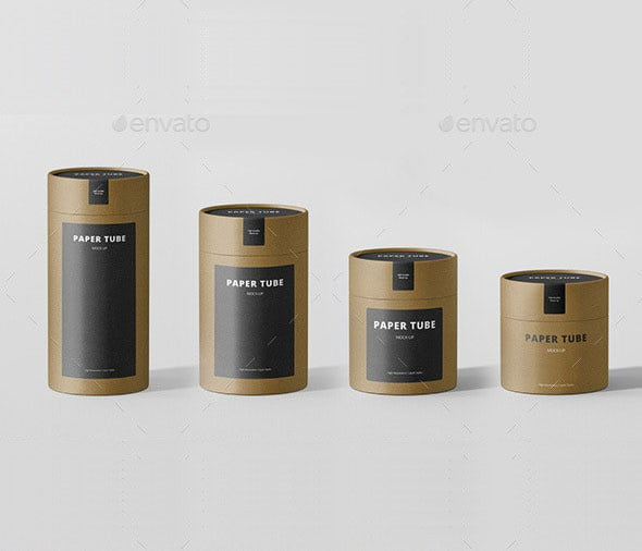 Paper Tube Packaging Mock-Up