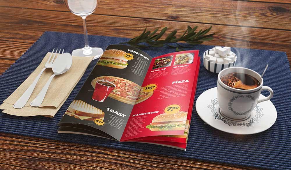 Photorealistic Food Menu Mockup