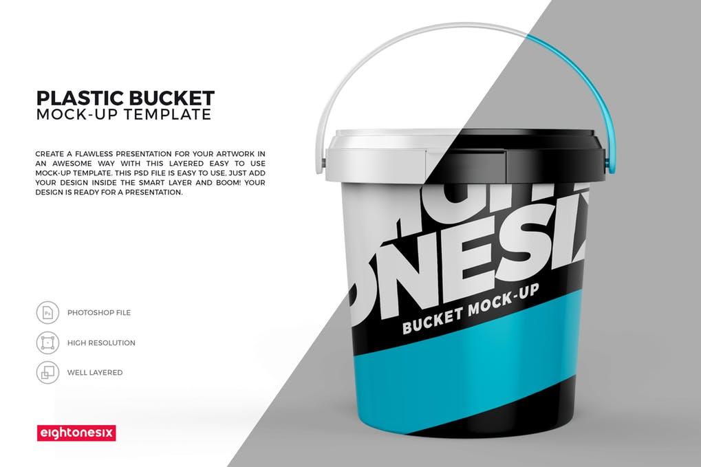 Plastic Bucket Paint MockUp
