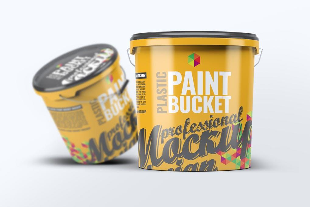 Plastic Paint Bucket Mock-Up