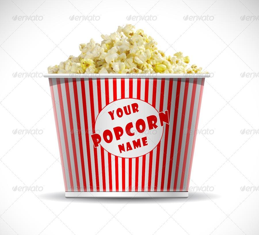 Popcorn Buckets Mock-up