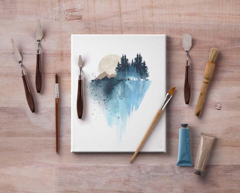 Canvas Mockup PSD Templates