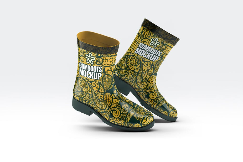 Short Ankle Gumboots Mock-Up