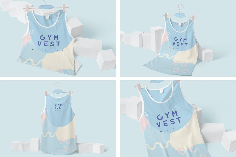 Sleeveless Gym Vest Mockups