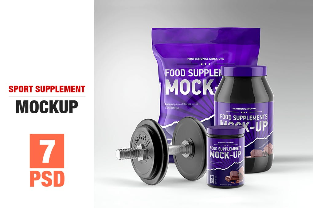 Sport Supplement Package Mock-up