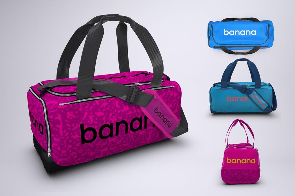 Sports Bag or Gym Duffel Bag Mock-Up