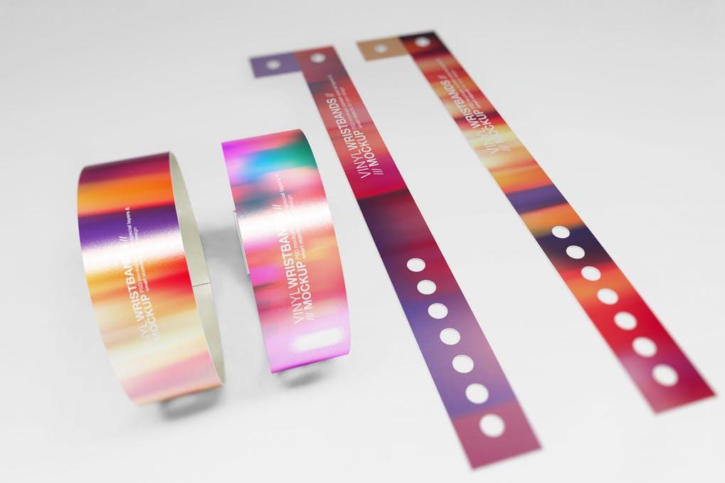 Vinyl Wristbands Mockup