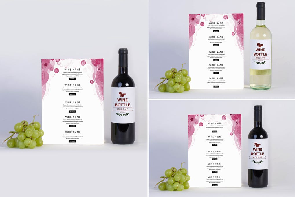 Wine Menu Mock Up