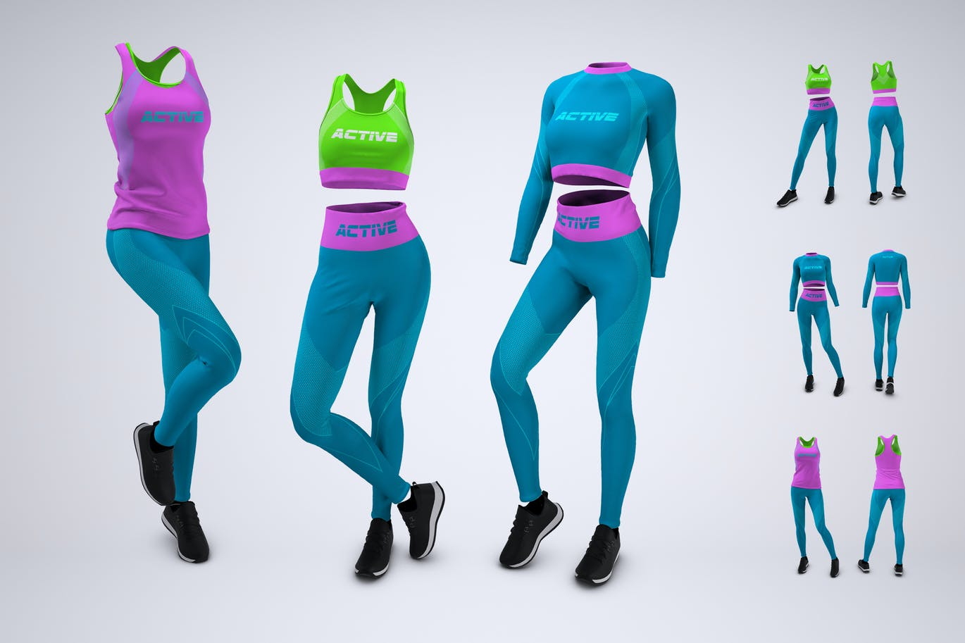 Woman's Workout Outfit Mock-Up