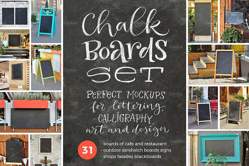 31 Chalk Board Mockups