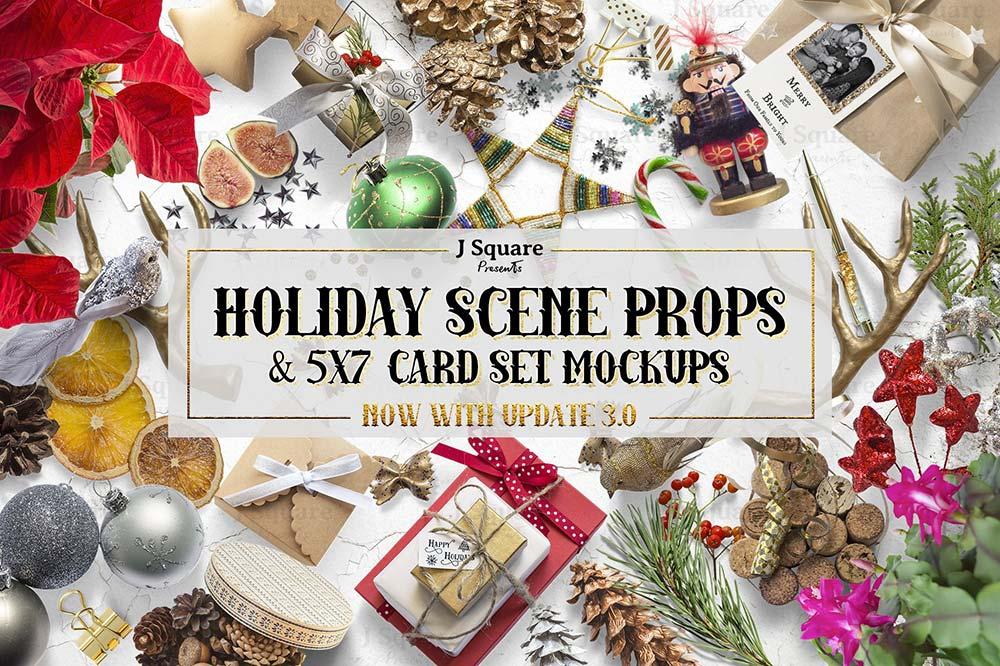 Holiday Props Card Mockups
