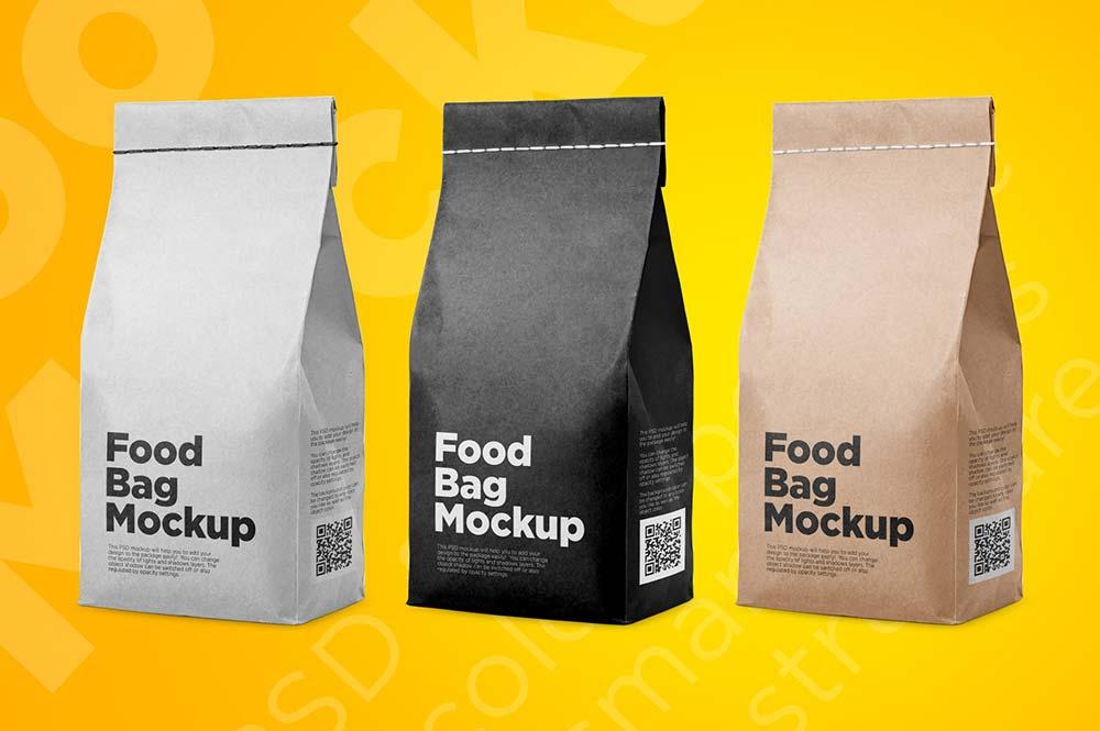 Food Bag Mockup PSD Templates