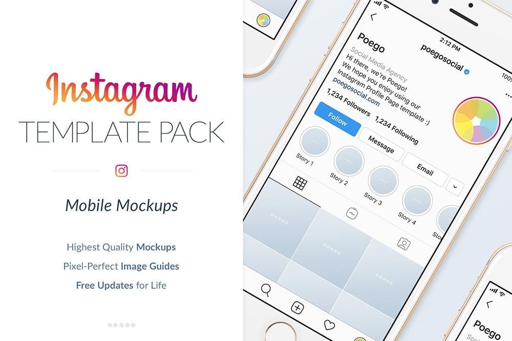 Instagram Mobile Mockups Pack