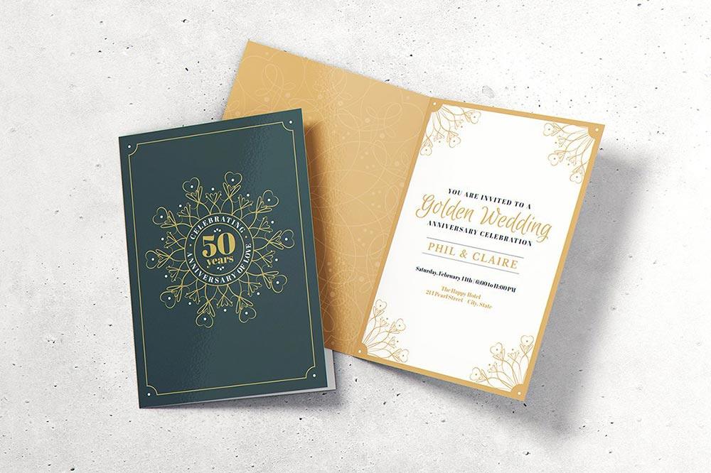 Invitation & Greeting Card Mockup