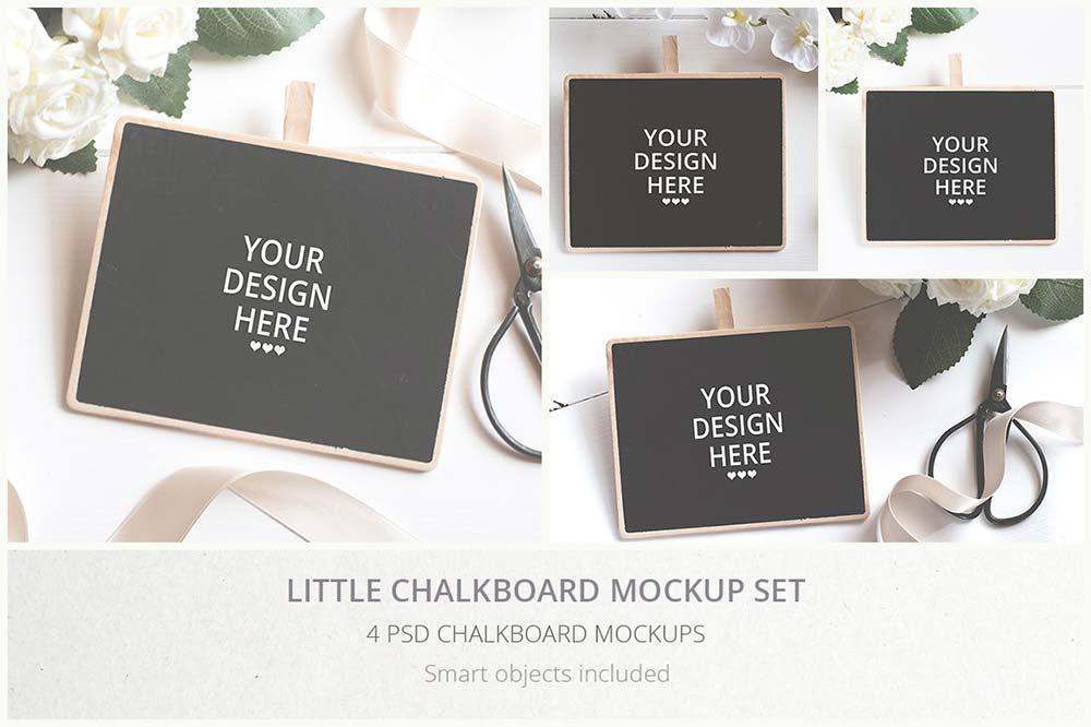 Little Chalkboard Mockups