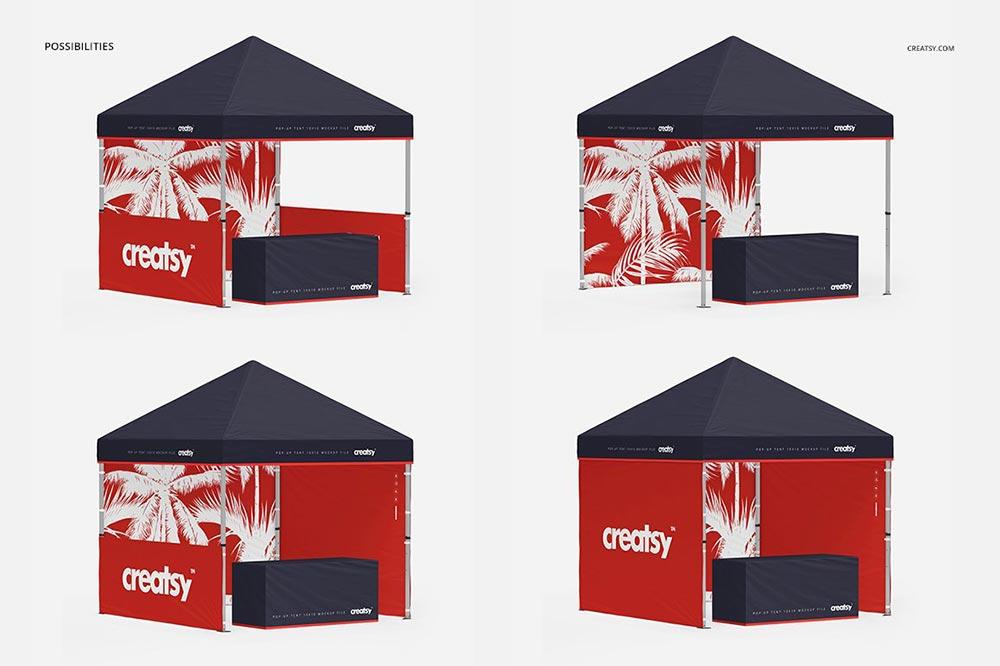 Pop Up Tent 10x10 Mockup