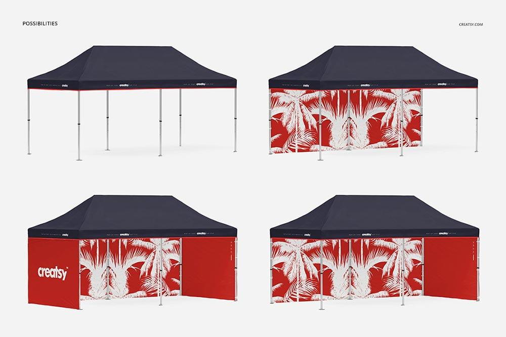Pop Up Tent 10x20 Mockup