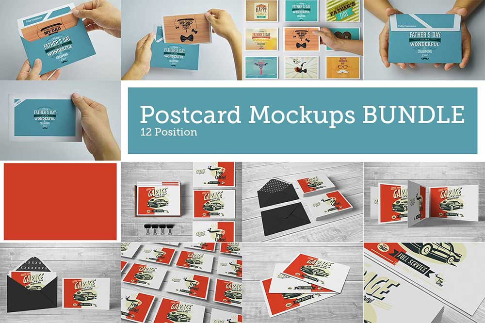Postcard BUNDLE Mock-Ups