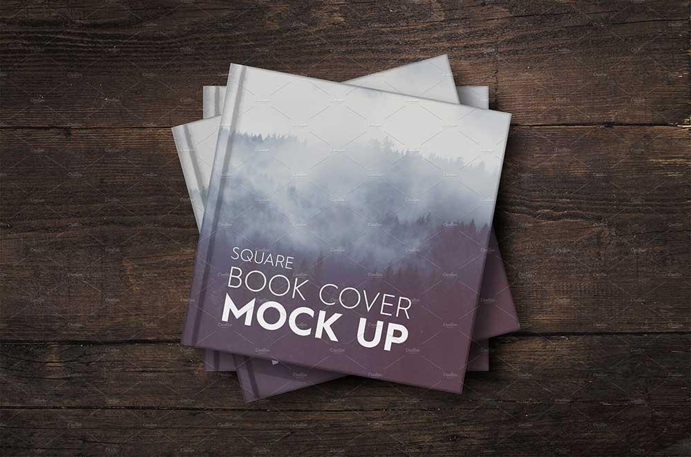 Square Book Cover Mockup