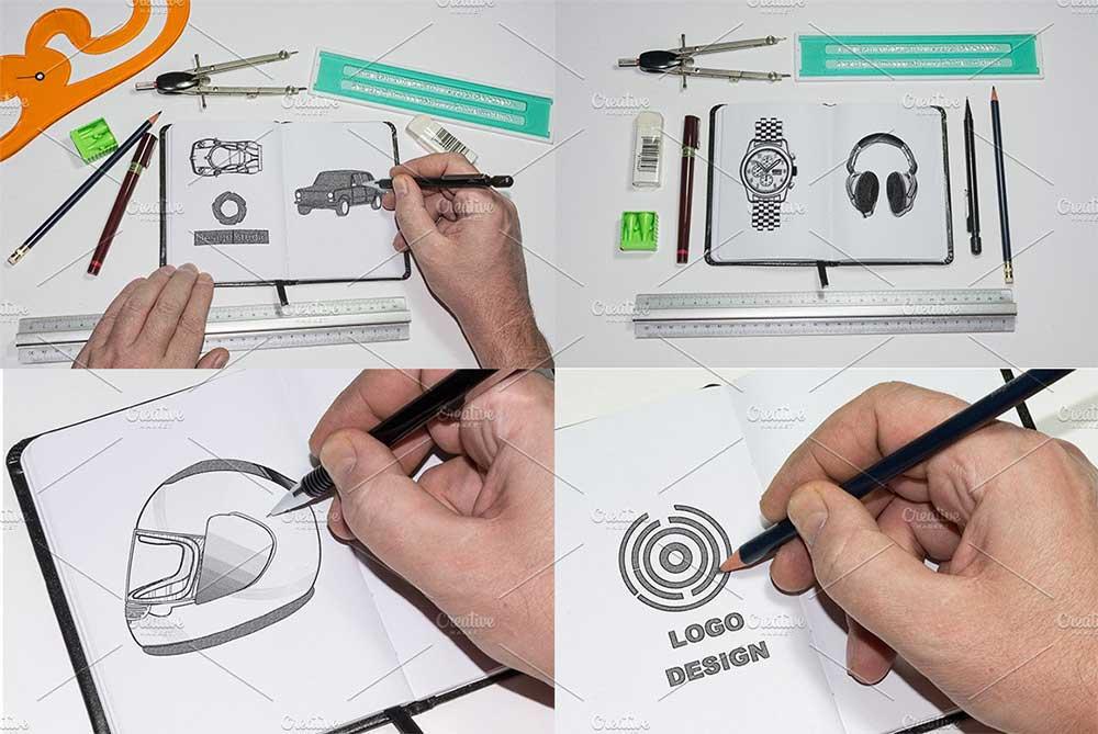 10 Sketchbook Mockup