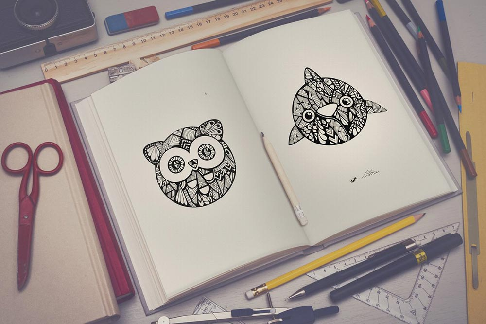 Sketchbook mock up set