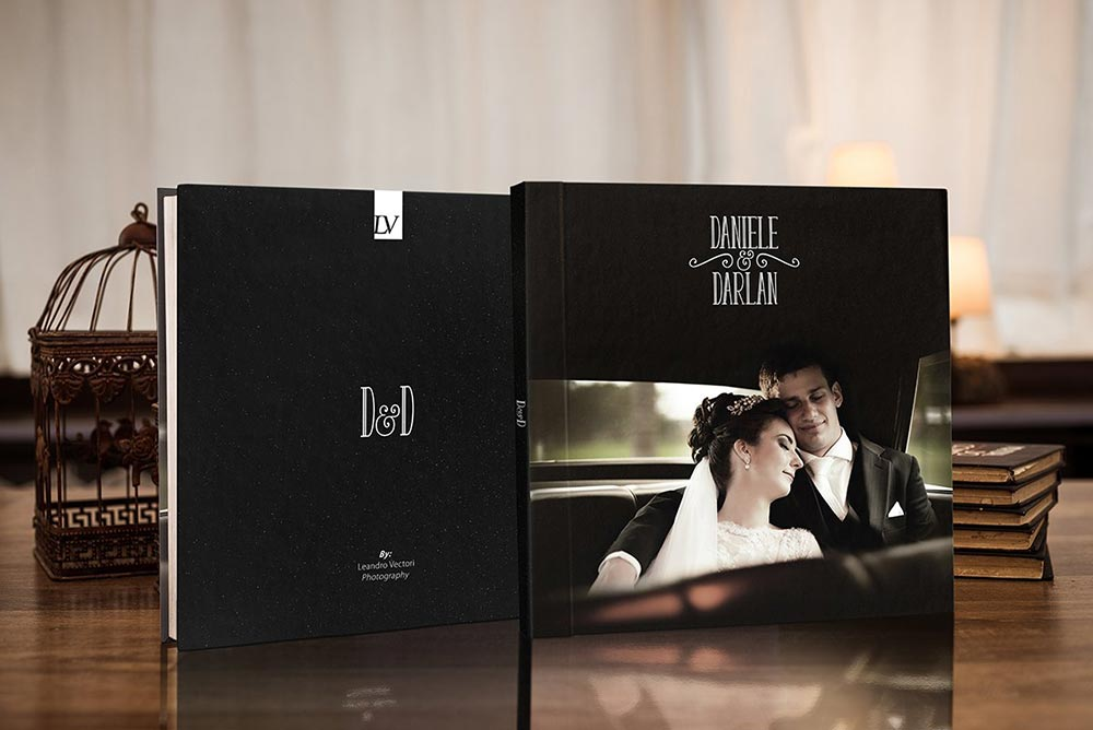 Square photography book mockup pack