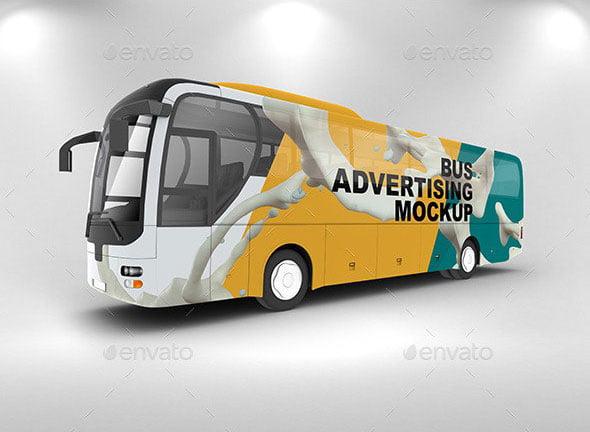 bus advertising mockups